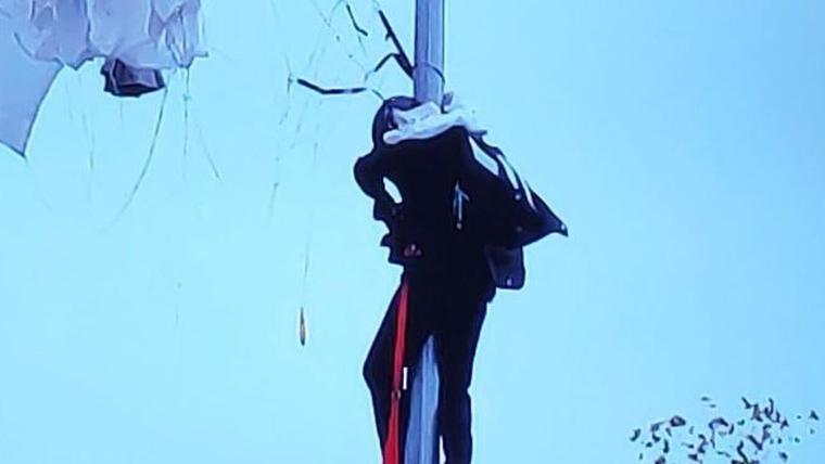 Imatge del paracaigudiata durant l'accident