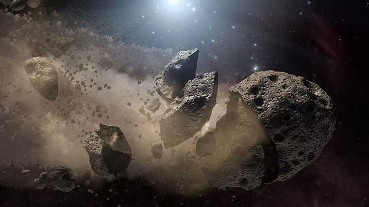 La pols d'un asteroide va provocar una era de gel a la Terra