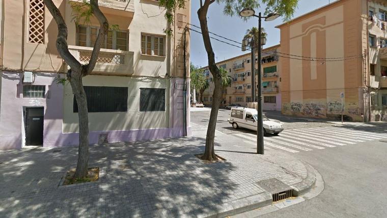 La zona de les 'Casetes roses', lloc a on s'ha produït l'accident mortal, en València
