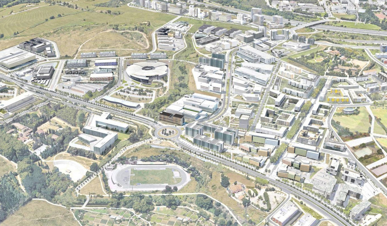 Plànol del Pla Director Urbanístic per al Centre Direccional