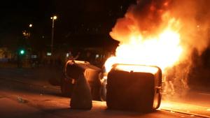 31 detinguts en els aldarulls en diferents punts de Catalunya i 57 mossos ferits