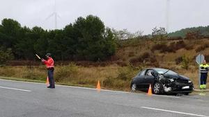 Accidente de tráfico ocurrido en Olite