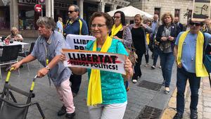 Avis i Avies per la LLibertat arriben a la plaça del mercadal