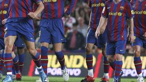 Barça 2009: Zlatan Ibrahimovic, Carles Puyol, Leo Messi, Sergi Busquets, Gerard Piqué