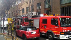 Camió dels Bombers en una intervenció en un incendi