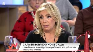 Carmen Borrego ha decidido actuar ante los ataques que recibe