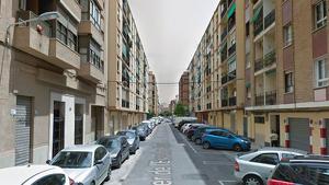 Carrer de l'Escultor Piquer de València, a on es van produir els fets