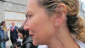 Diana López-Pinel, madre de Diana Quer, en un acto público