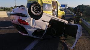 El camió va marxar del lloc de l'accident