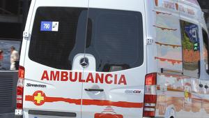 Ambulancia de Asturias durante un servicio