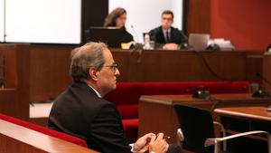 El president de la Generalitat, Quim Torra, declara en el TSJC per no retirar símbols independentistes