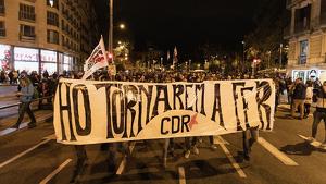 Els CDR porten un mes de protestes, des de la sentència als líders independentistes
