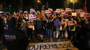 Manifestació suport cdr