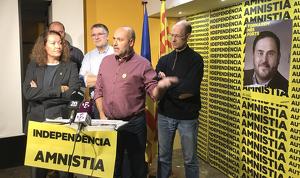Els representants d'ERC han celebrat la victòria electoral amb molta prudència
