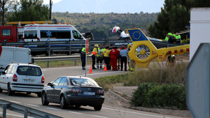 En l'accident s'hi han vist implicats un camió i dos turismes