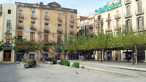 Estat actual de la plaça del Pati de Valls