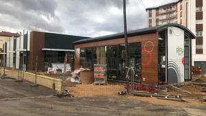 Estat actual de les obres de construcció del nou restaurant