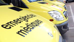 Fotografia de les ambulàncies del SEM