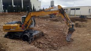 Fotografia de l'inici dels treballs d'ampliació de la depuradora