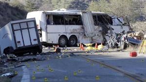 Imagen de archivo de un accidente de autobús