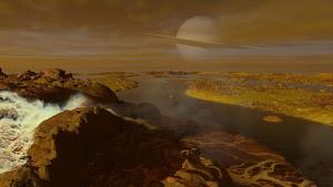 Imagen representativa de la superficie de Titán