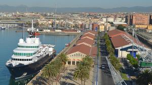 Imatge àerea del Moll de Costa de Tarragona.
