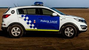 Imatge d'arxiu d'un cotxe patrulla de la Policia Local d'Amposta.