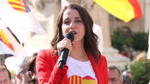 Imatge de la candidata de Cs a Barcelona, Inés Arrimadas, durant la seva visita a Tarragona