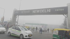 Imatge de la greu contaminació que pateix Nova Delhi