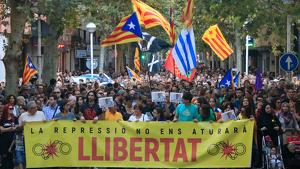 Imatge de la manifestació que ha acollit 12.000 persones a Sabadell