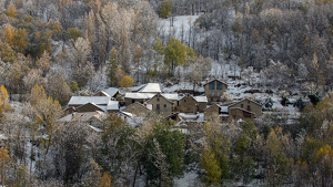 Imatge de la nevada a la Vall d'Unarre, al Pallars Sobirà, aquest dijous