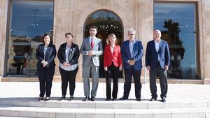Imatge de la trobada, al Palau de la Diputació de Tarragona
