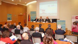Imatge de l'acte inaugural de les XI Jornades d'Arqueologia Industrial de Catalunya.
