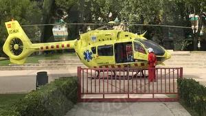 Imatge de l'helicòpter del SEM, al lloc dels fets