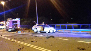 Imatge del cotxe en el qual viatjava el conductor mort