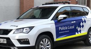 Imatge del nou cotxe de la policia local d'Alcarràs