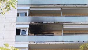 Imatge del pis afectat per l'incendi