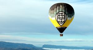 Imatge d'un globus sobrevolant la Conca de Tremp
