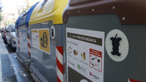 Imatge d'uns contenidors de la ciutat de Tarragona