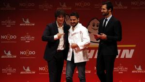 Premi de dues estrelles Michelin al restaurant Angle, de Jordi Cruz. Imatge del 21 de novembre de 2019.
