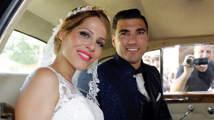 José Antonio Reyes i Noelia López, el dia del seu casament