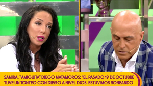 Samira Jalil y Kiko Matamoros en 'Sálvame'