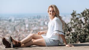 La cantautora vallenca Maria Jacobs en una imatge promocional.