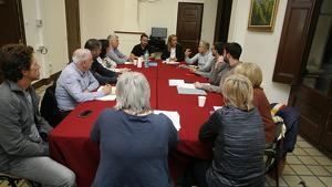 La taula de coordinació va estar presidida per l'alcaldessa de la ciutat