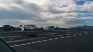 La topada entre els vehicles ha deixat dos ferits a l'A-7 de Mont-roig