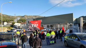 La vaga té un seguiment del 100% dels treballadors