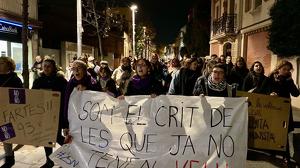 Les cerdanyolenques s'han manifestat amb motiu del 25N