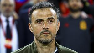 Luis Enrique, entrenador de la Selecció espanyola