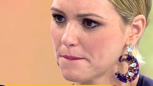 María Jesús Ruiz con lágrimas en los ojos