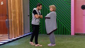 Mila Ximénez y Antonio David Flores discuten por Hugo Castejón